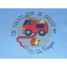 T-shirt  on dirait que je serais un pompier